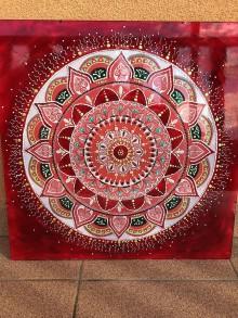"""Obrazy - Mandala """"pociatok"""" 50 x 50 - 9052178_"""