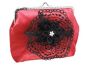 Kabelky - Dámská spoločenská kabelka červená 1190 - 9054301_