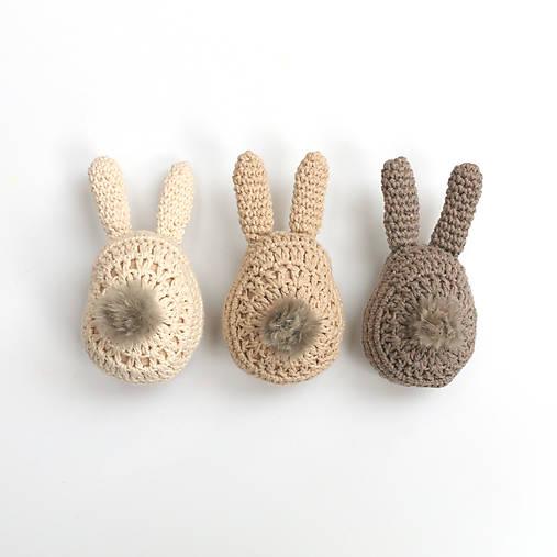 Dekorácie - Zajačikové kraslice (aj s chvostíkmi) - 9051228_