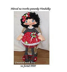 Bábiky - PDF Podrobný návod na tvorbu panenky Vendulky - 9054302_