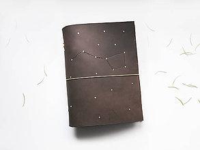 Papiernictvo - Kožený zápisník - karisblok Veľký voz a6 - 9052018_