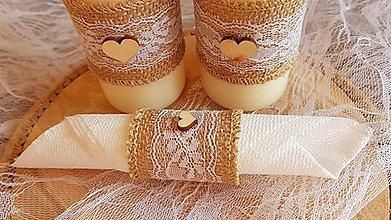Pierka - vintage krúžok na servítky z jutoviny - 9050550_