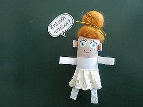 Darčeky pre svadobčanov - *Nevesta - textilná magnetka - 9052319_