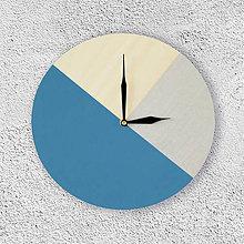 Hodiny - Nástenné hodiny Modro-strieborné - 9051311_