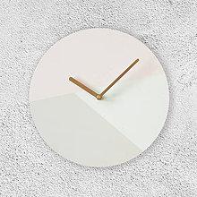 Hodiny - Nástenné hodiny Pastelová geometria - 9051328_