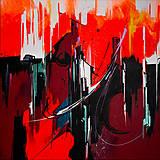 Grafika - Obraz Chinatown, 50 x 50 cm, akryl na plátne - 9052379_