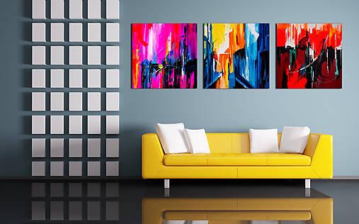 3x obraz (abstract), 50 x 50 cm, akryl na plátne