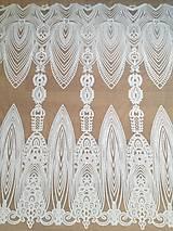 Textil - Vyšívaný tyl s flitrami - 9051982_