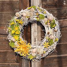 Dekorácie - Veľkonočný veniec na dvere - 9050127_