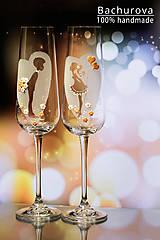 - Svadobné poháre (Pieskovaná mená a dátum sobáša) - 9051133_