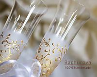 - Svadobné poháre (Pieskovaná mená a dátum sobáša) - 9053163_