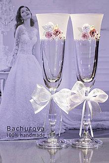 Nádoby - Svadobné poháre - 9053211_
