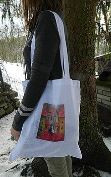 Nákupné tašky - Bavlnena taska s potiskom - 9052397_