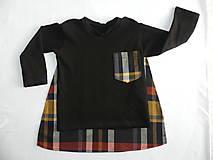Detské oblečenie - Tričko pre superhrdinu - káro - 9053070_
