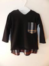 Detské oblečenie - Tričko pre superhrdinu - káro - 9053071_