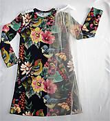 Detské oblečenie - Šaty s vlečkou - kvetované - 9054142_
