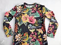 Detské oblečenie - Šaty s vlečkou - kvetované - 9054144_