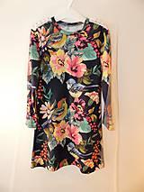 Detské oblečenie - Šaty s vlečkou - kvetované - 9054145_