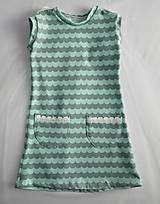 Detské oblečenie - Šaty s vlečkou - mint - 9054373_