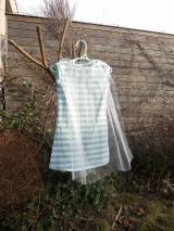Detské oblečenie - Šaty s vlečkou - mint - 9054375_