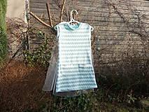 Detské oblečenie - Šaty s vlečkou - mint - 9054376_