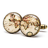 Šperky - Objavuj svet (kruhové - starobronzové lôžko) - 9053958_