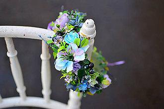 Ozdoby do vlasov - Romantický modrý venček - 9053846_