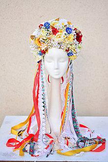 Ozdoby do vlasov - Svetla kvetinová parta - 9053990_