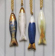Náhrdelníky - Zlaté rybky. - 9051931_