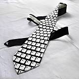 Doplnky - Kravata s klávesnicí - černo-bílá - 9052965_