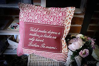 Úžitkový textil - Vankúšik pre mamičku No.2 - 9057676_