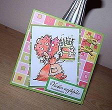 Papiernictvo - Sunbonetka - pohľadnica k narodeninám - 9058482_