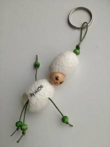 Kľúčenky - Kráska s barokovou parochňou zelená - 9054740_