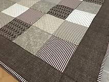 Úžitkový textil - vzor hnedá s béžovou - 9058304_