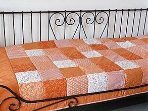Úžitkový textil - patchwork deka 140x200 alebo 220x220 a vankúš za super cenu (Prehoz 140 x 200 cm) - 9058286_