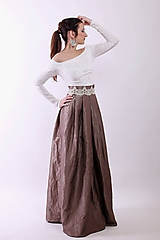 Taftová spoločenská sukňa