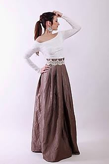 Sukne - Taftová spoločenská sukňa - 9058041_
