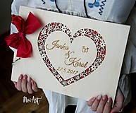 Papiernictvo - Svadobná kniha hostí, fotoalbum - srdiečko - 9056914_