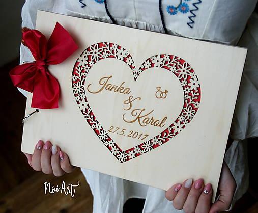 Svadobná kniha hostí, fotoalbum - srdiečko