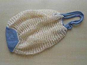 Nákupné tašky - Sieťovka snehová vločka - 9056416_