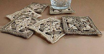 Úžitkový textil - Podšálky v hnedom - 9057525_