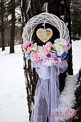 Dekorácie - Zimný venček pre mladomanželov - 9055218_