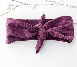Ozdoby do vlasov - Vintage šatka do vlasov Purple - 9058202_