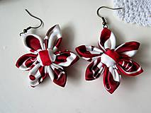 - náušnice Červený ornament  - 9057376_