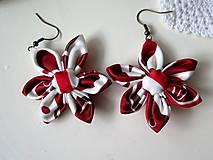 Náušnice - náušnice Červený ornament - 9057376_