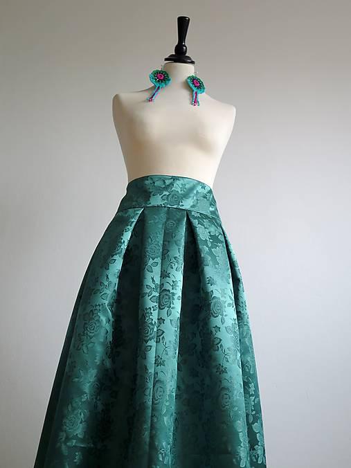 acf6223c2573 Slávnostná sukňa v zelenom   EVART - SAShE.sk - Handmade Sukne