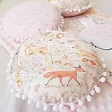 Textil - Gulaté vankúšiky lesné zvieratká - 9055698_