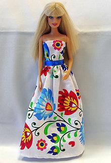 Hračky - Folk kvetinové šaty pre Barbie - 9058309_