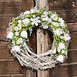 Dekorácie - Jarný veniec na dvere - 9058340_