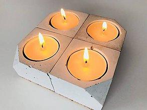 Svietidlá a sviečky - Betónový svietnik - Cube S - 9056206_